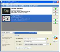 Click to download free trail version of Solid Mp4 to DVD Converter and Burner